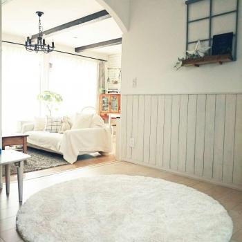Белый круглый ковер JumKids Sweet White